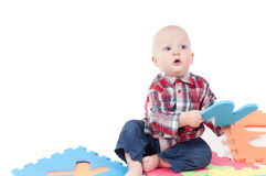 Little boy in studio Royalty Free Stock Image