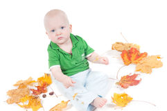 Little boy in studio Royalty Free Stock Photography