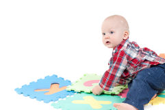 Little boy in studio Royalty Free Stock Photo