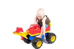 Little boy in studio Stock Image