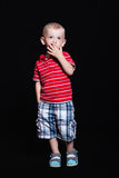 Little boy in the studio Royalty Free Stock Photo