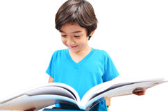 Little boy study and reading book Royalty Free Stock Photos