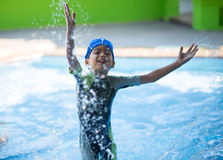 Little boy study in  swimming class Royalty Free Stock Image