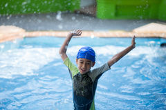 Little boy study in  swimming class Stock Photography