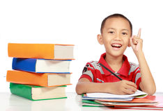 Little boy studying Royalty Free Stock Photo