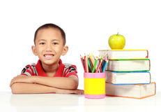 Little boy studying Stock Photos