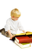 Little boy is studying Stock Photo