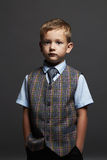Little boy.stylish child in suit and tie Stock Images