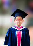 Little boy success kindergarten graduation Stock Photos