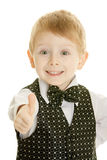 The little boy in a suit Royalty Free Stock Image