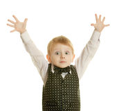 The little boy in a suit Royalty Free Stock Photo
