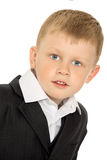 Little boy in a suit stock images