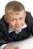 Little boy in a suit stock image