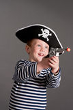 Little boy in the suit of pirate Royalty Free Stock Photography