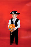 Little boy in the suit of pirate Royalty Free Stock Photo