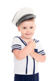 Little boy in a suit of th shipboy Stock Photos