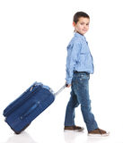 Little boy with suitcase Royalty Free Stock Image