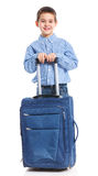 Little boy with suitcase Royalty Free Stock Photos