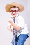A little boy with sunglasses Royalty Free Stock Photo