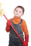 Little boy with swab Stock Photography