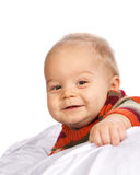 Little Boy in Sweater Closeup Stock Image
