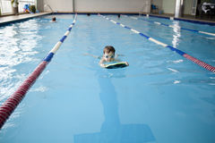 Little boy swimmer Stock Images