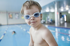 Little boy swimmer Royalty Free Stock Images