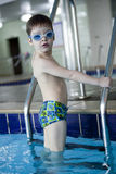Little boy swimmer Stock Image