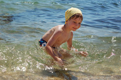 Little boy swimming Royalty Free Stock Images