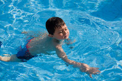 Little Boy Swimming Stock Images