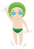 Little boy swimming backstroke Royalty Free Stock Photos
