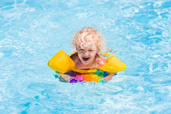 Little boy in swimming pool Stock Photo