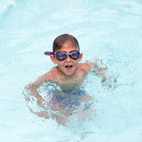Little boy at the swimming pool Royalty Free Stock Photography