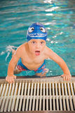 Little boy in the swimming pool Stock Photos