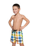 Little boy in swimsuit Royalty Free Stock Photos