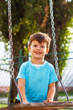 Little boy at swing Royalty Free Stock Photo