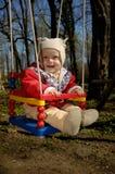 Little Boy swings Royalty Free Stock Photo