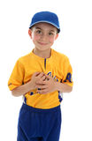 Little boy t-ball baseball player Stock Photo