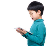 Little boy with tablet computer Stock Photography