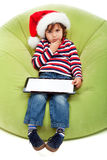 Little boy with tablet computer Royalty Free Stock Photos