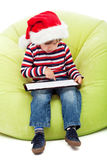 Little boy with tablet computer Royalty Free Stock Image