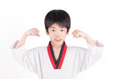 Little boy in a Taekwondo suit Royalty Free Stock Image