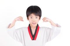 Little boy in a Taekwondo suit Royalty Free Stock Image