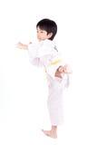 Little boy in a Taekwondo suit Stock Photo
