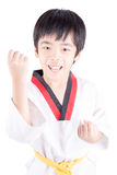 Little boy in a Taekwondo suit Royalty Free Stock Photography