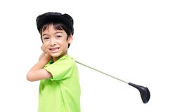 Little boy taking golf  club Royalty Free Stock Image