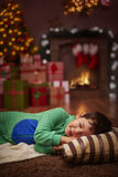 Little boy taking a nap Royalty Free Stock Photo