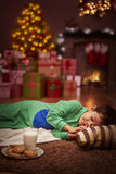 Little boy taking a nap Royalty Free Stock Image
