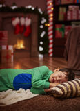 Little boy taking a nap Royalty Free Stock Photos