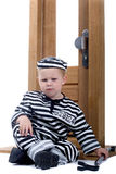 Little boy in thief outfit Royalty Free Stock Images